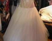 Lisa Ho- silk wedding dress with tulle handkerchief skirt - size 10