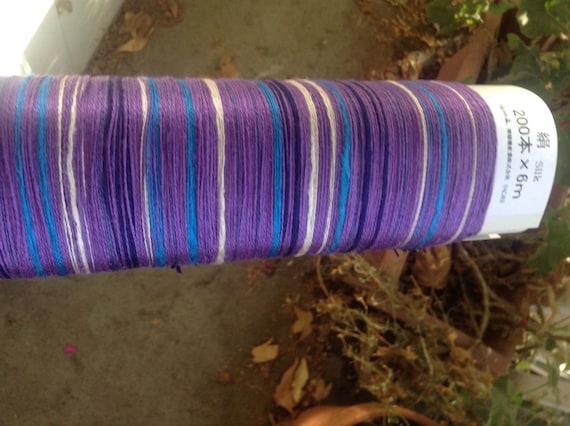 PRIOR RELEASE Saori Lavender Silk Ready-Made Warp 200 threads x 6m