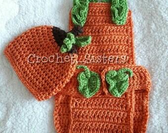 Crochet Pumpkin Baby costume - Halloween - pumpkin costume - pumpkin patch - fall - baby shower gift