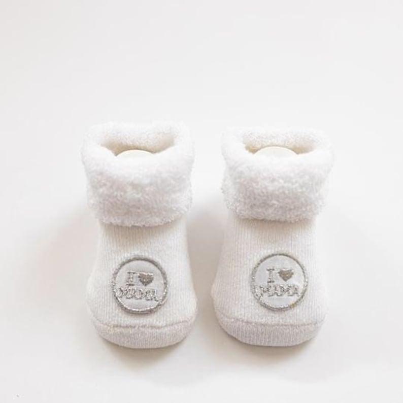 I Love Mama Baby Booties Baby Socks Baby Shower Gift New Mum Present