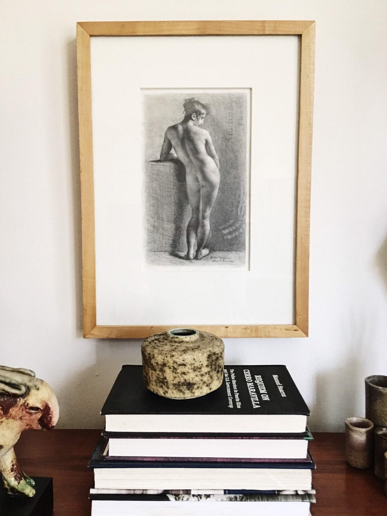Original Graphite nude study by Alan B. Ramsay Signed