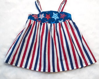 4th of July Dress, 4th of July, Red white and blue dress, Toddler Girl Dress, Toddler 4th of July Dress, Toddler Dress, Girls Dress
