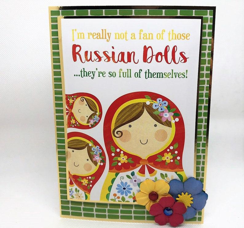Russian Dolls Joke Card Handmade Greetings