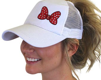 0b09131c7cd67 Minnie Bow Hat Embroidered with rhinestones