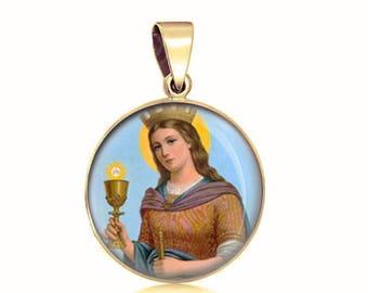 14kt Gold St Bridget of Sweden Medal