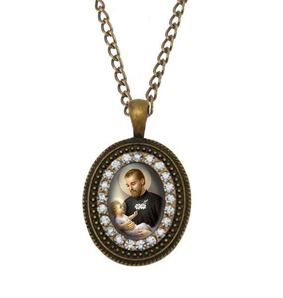Catholic Necklace Religious Jewelry Black Madonna Virgin Mary Necklace Patron Saint of Poland Catholic Jewelry Confirmation Gift