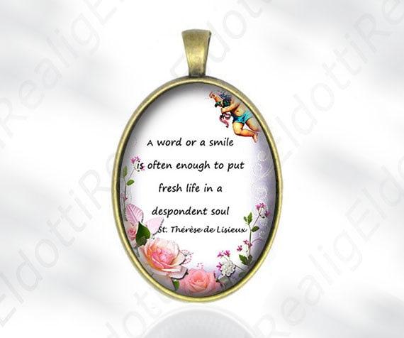 Een Woord Of Een Glimlach St Theresia Van Lisieux Quote Etsy