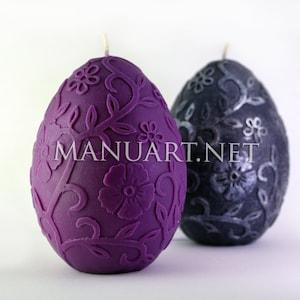 big egg candle easter present wax ostrich egg candle mould plaster Big huge egg 3D silicone mold moulds soap dinosaur egg