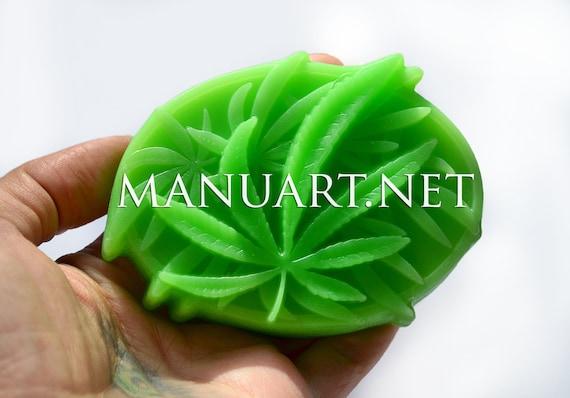 Cannabis Leaves Silicone Mold Hemp Marijuana Natural Oval