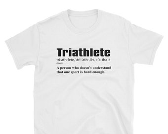 e3dd5028 Definition of a TRIATHLETE Tshirt - Swim Bike Run Triathlon Inspired Design  - Funny Humorous Mens T-Shirt