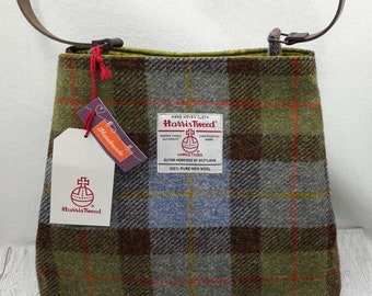 HARRIS TWEED Handbag /Shoulder Bag / MacLeod Tartan / Handmade in Scotland