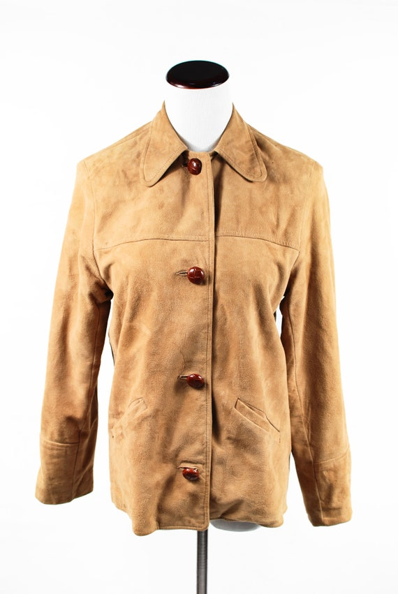 1970's Boho Tan Suede Jacket - image 2