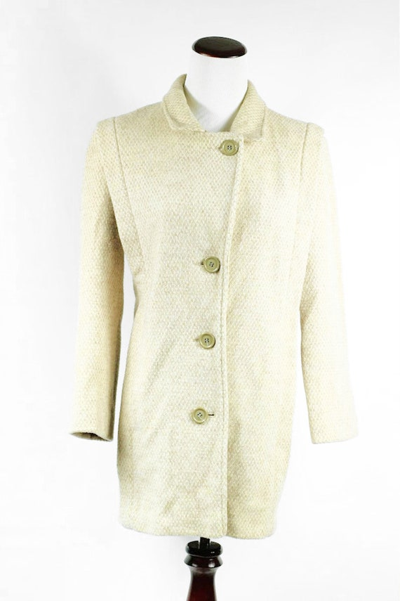 1960's 'Herman Kay' Oatmeal Wool Overcoat