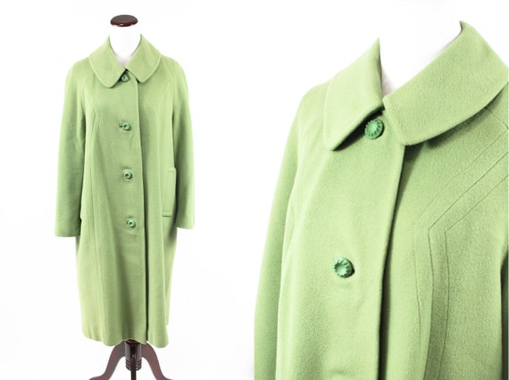 1950's Sage Green Cashmere Overcoat
