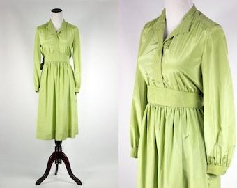 1960's Pistachio Suede Tie Dress -- Sz Sm