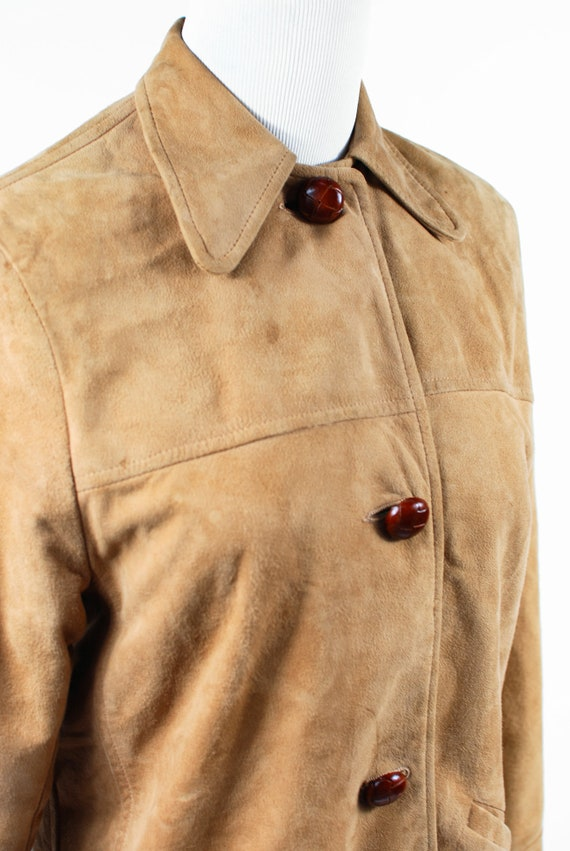 1970's Boho Tan Suede Jacket - image 6