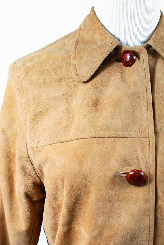 1970's Boho Tan Suede Jacket - image 7