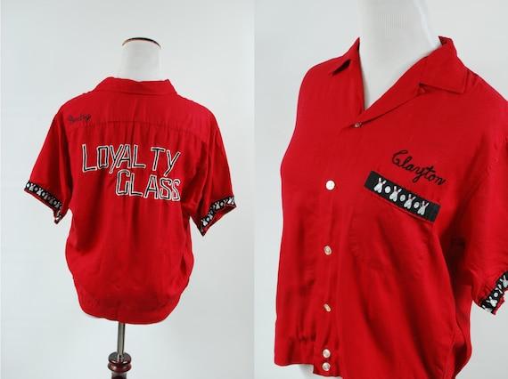 1950's Red 'Clayton' Bowling Shirt