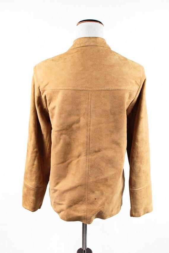 1970's Boho Tan Suede Jacket - image 4