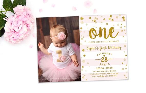 Beroemd Eerste verjaardag uitnodiging meisje 1ste verjaardag | Etsy &KR49