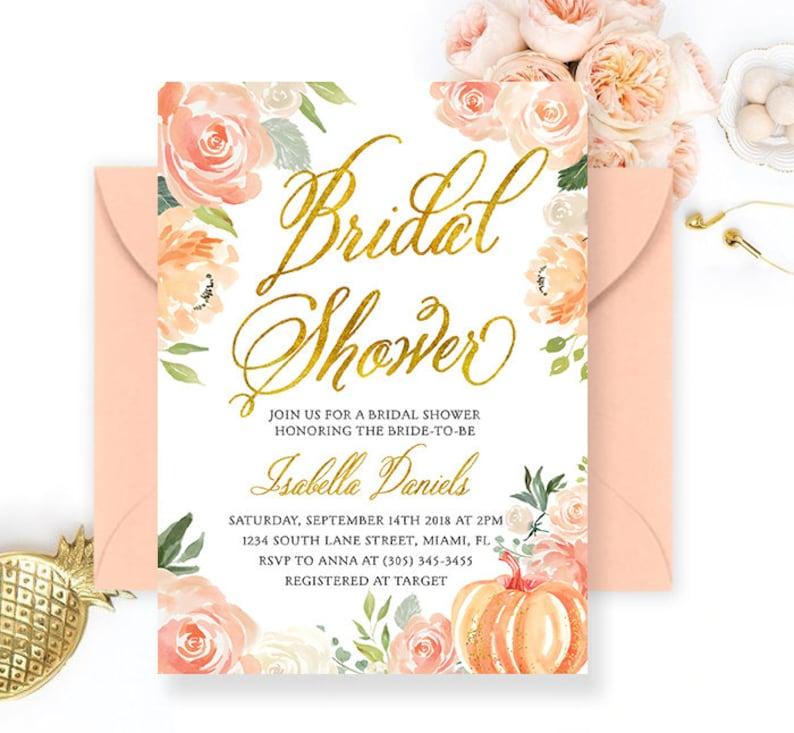 157774c03cc Fall bridal shower invitation Autumn Bridal Shower Invite