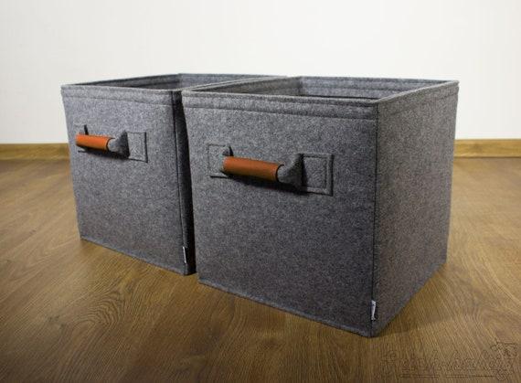 Felt Storage Bin Felt Boxes Fit Into Ikea Expedit And Kallax Etsy