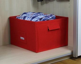 Felt storage basket, felt organizer, felt storage box, felt bin