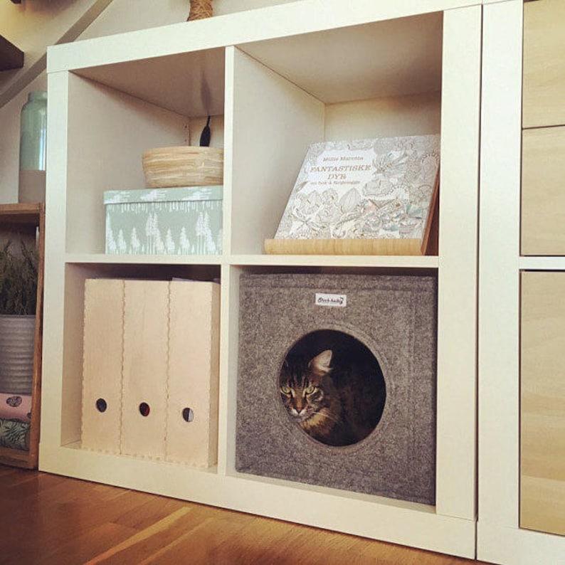 Felt Cat Cave Fits Into Ikea Expedit And Kallax Cat Cube Etsy