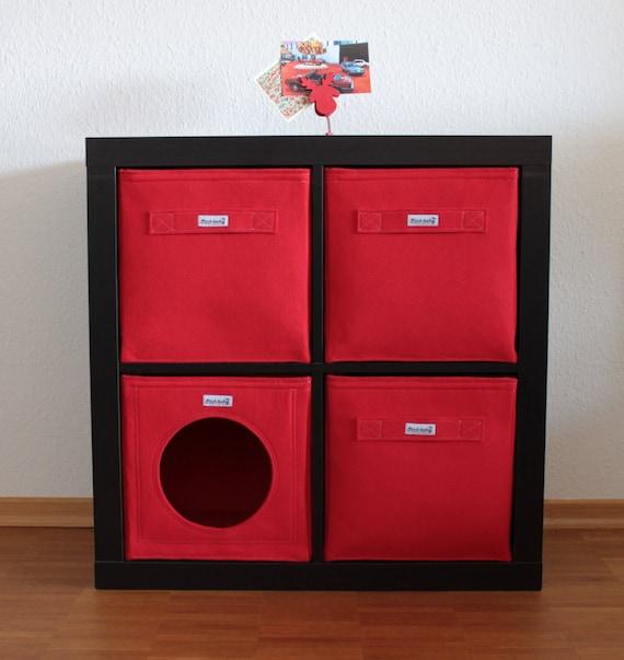 Panier Rouge Détagère Fait De Feutre Approprié Pour Ikea Expedit Kallax Et Dautres étagères Boîte De Rangement De Panier De Boîte