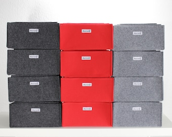 Felt storage boxes, felt bin, felt organizer