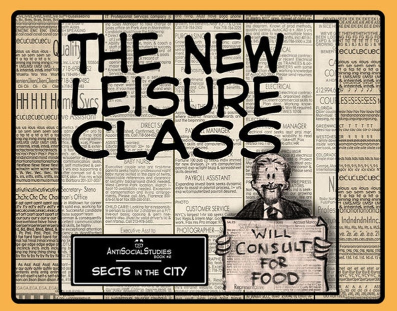 The New Leisure Class  Book of cartoon drawings image 0