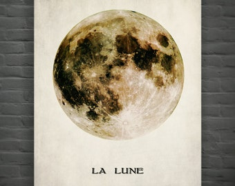 La Lune (The Moon),Full Moon Print Poster Wall Art - Home Decor - Moon Print No,240