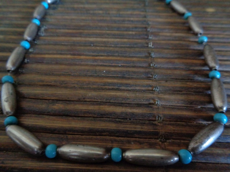 Turquoise and Sterling Silver Necklace