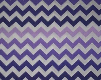 Purple White chevron zigzag striped Window curtain valance