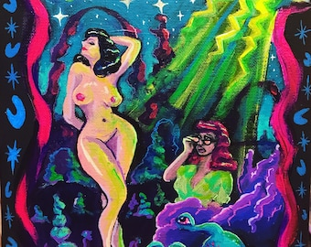 Sexy Sins in Space! Original Painting