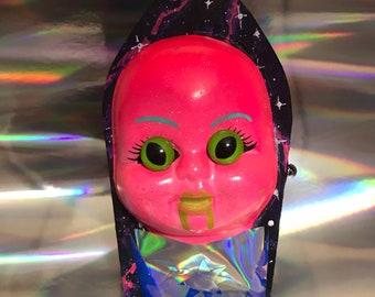 3D Alien Baby Head Coffin Box
