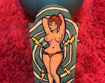 Funky Pinup Coffin Box