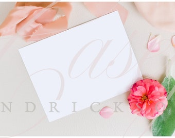 Download Free Blank paper invite print mockup stock photo PSD Template