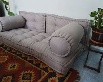 Japanese Style Majlis Floor Sofa Set,floor Couch,oriental Floor Seating,  Bohemian Furniture,French Mattress,ethnic Sofa, Living Room Sofa