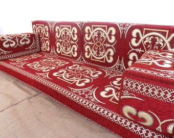 Merveilleux Arabic Style Majlis Floor Sofa Set, Floor Couch, Oriental Floor Seating  ,bohemian Furniture,living Room Sofa