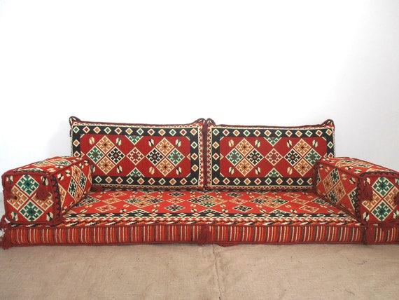 Enjoyable Oriental Floor Seating Arabic Style Majlis Floor Sofa Set Floor Couch Floor Seating Sofa Ethnic Sofa Bohemian Furniture Living Room Sofa Machost Co Dining Chair Design Ideas Machostcouk