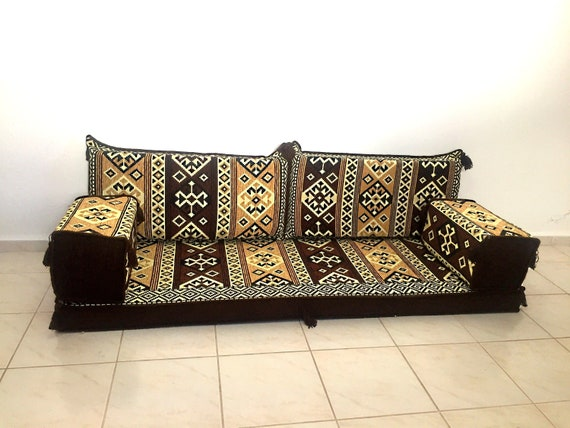 Brilliant Arabic Style Majlis Floor Sofa Set Floor Couch Oriental Floor Seating Floor Seating Sofa Ethnic Sofa Bohemian Furniture Living Room Sofa Machost Co Dining Chair Design Ideas Machostcouk