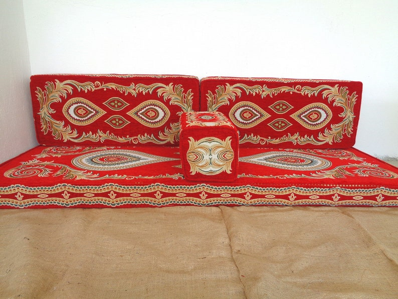 Arabic style majlis floor sofa set, floor couch, oriental floor seating,  floor seating sofa, ethnic sofa,bohemian furniture,living room sofa