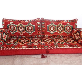 Arabic style majlis floor sofa set, floor couch, oriental floor seating, floor seating sofa, ethnic sofa,bohemian furniture,living room sofa