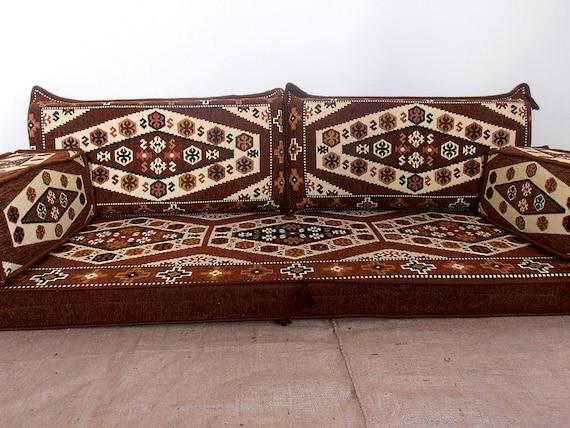 Arabic style majlis floor sofa set,floor couch,oriental floor seating,  floor seating sofa, ethnic sofa, bohemian furniture, living room sofa