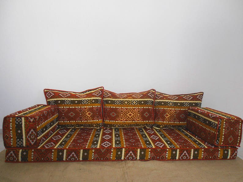 Oriental floor seating, Arabic style majlis floor sofa set, floor couch,  floor seating sofa, ethnic sofa,bohemian furniture,living room sofa