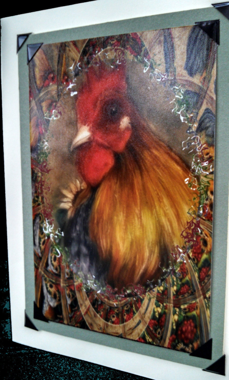 Nostalgic Fine Art Rooster Cameo Greeting Cards Original Art Prints