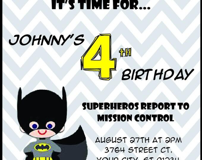 Batman Invitation, Batman Invites, Batman Superheroes Dark Knight, Batman Birthday Invitation, Superhero Birthday Invitate, Printable PDF