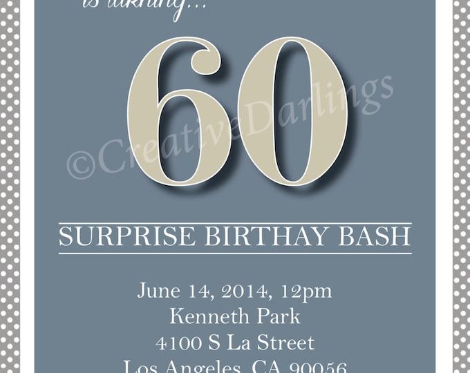 Vintage Milestone or retirement party Invitation