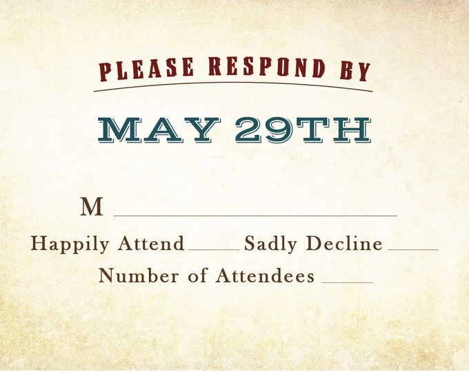 RSVP card, Please Respond By, Boots Retirement Card, Digital Download, Army, rugged, construction, Man, husband, male, note